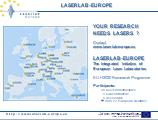 Laserlab presentation - 2 slides